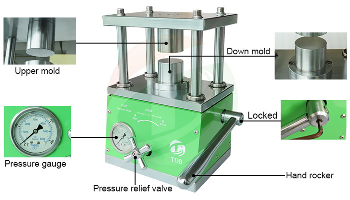 Coin Cell Electrode Hydraulic Press Machine